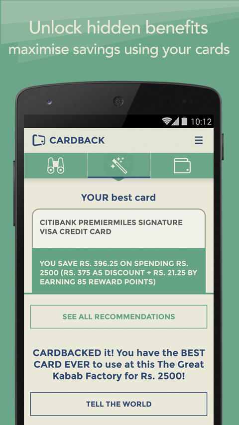 Credit & Debit Card Rewards - screenshot