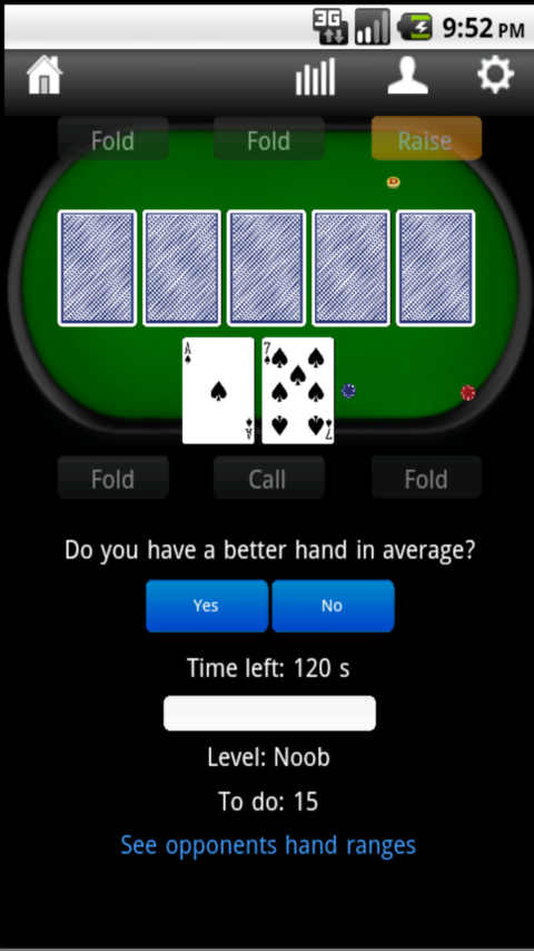 Pokertrainer- screenshot