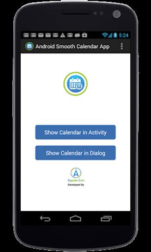 English Calendar App