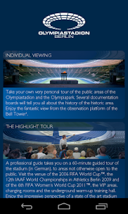 Olympic Stadium Berlin App screenshot