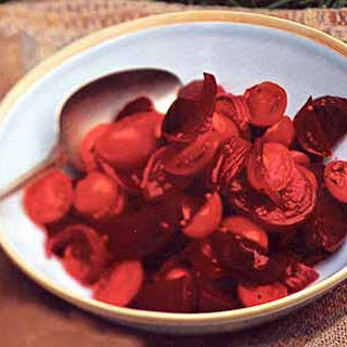 Tomato, Roasted Beet, and Pickled Onion Salad