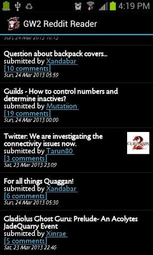 GW2 Reddit Reader
