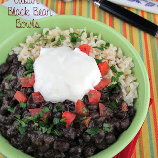 Slow Cooker Cuban Black Bean and Rice Bowls.