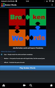 Broken Words - Vocabulary Game