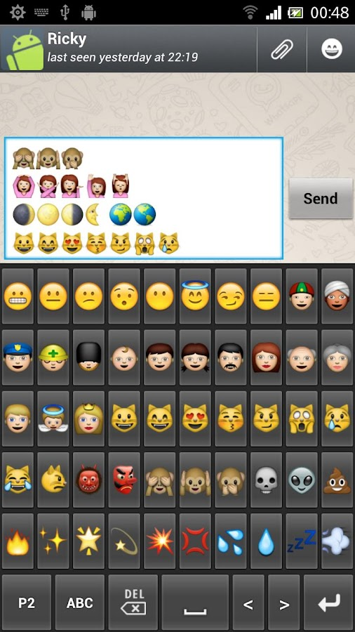 New Emoji Keyboard - screenshot