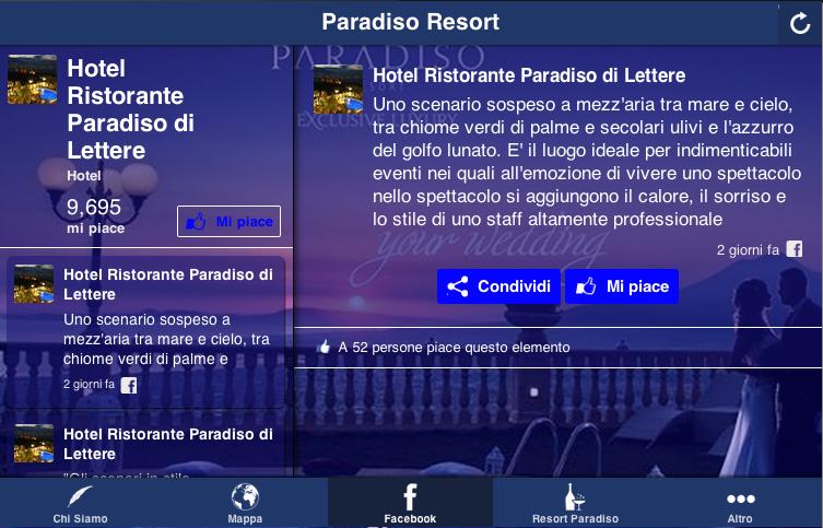 Resort Paradiso Lettere- screenshot