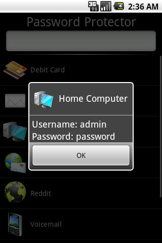 Password Protector - screenshot