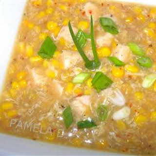 Chinese Creamy Corn Soup.