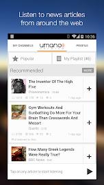 Umano: Listen to News Articles Screenshot 1