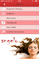 Screenshot of Angelo Hairdressing