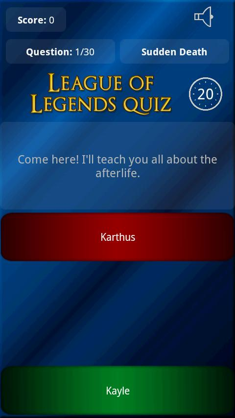 League of Legends Quotes Quiz - screenshot