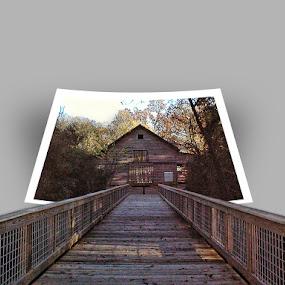 A Bridge In Georgia by Jackie Sleter - Digital Art Places ( warm, wood, georgia, bridge, country )