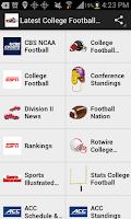 Screenshot of Latest College Football News