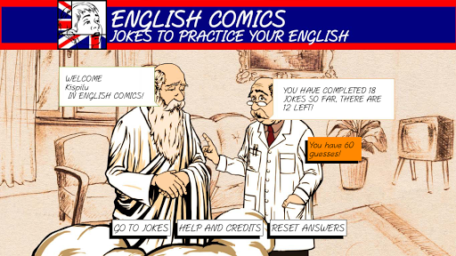 English Comics: Learn laugh