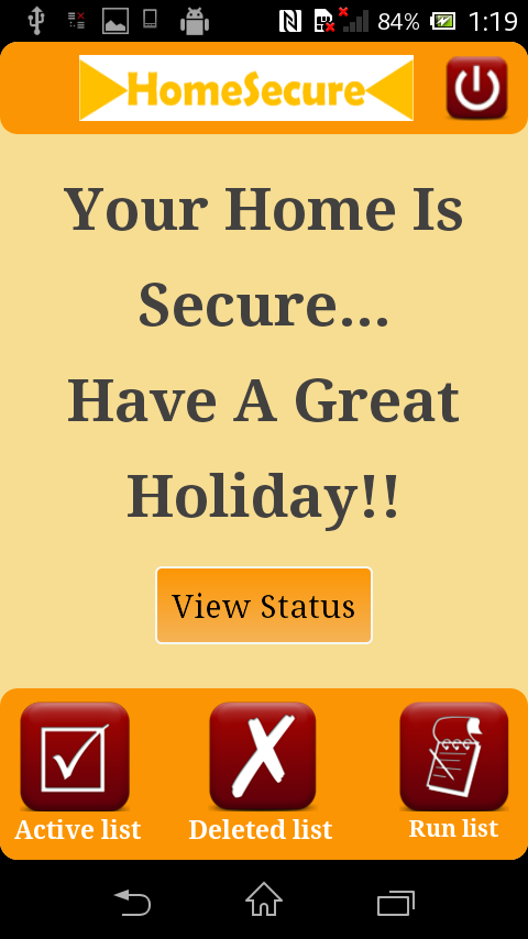 HomeSecure- screenshot