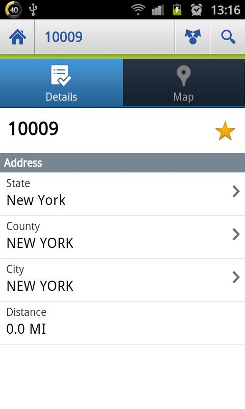 US Zip codes Lite - screenshot