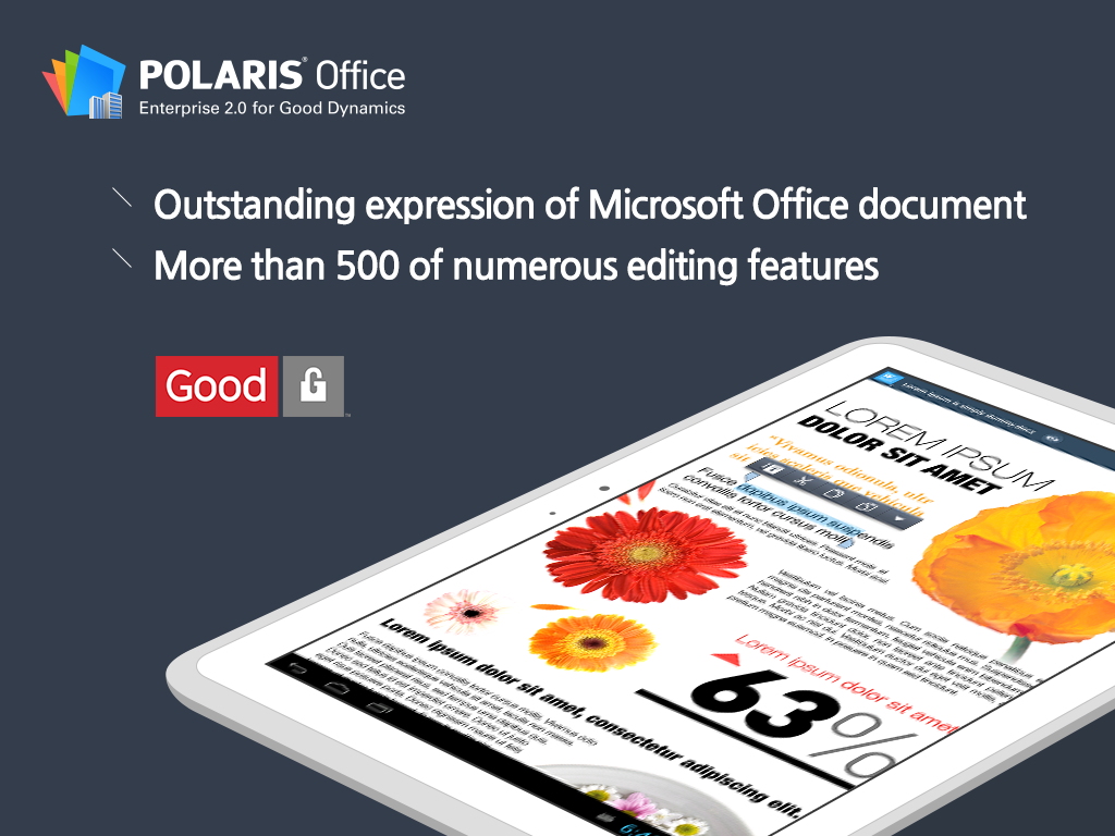 Polaris Office for Good - screenshot