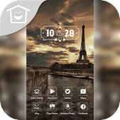 Sunset View Eiffel Paris Theme