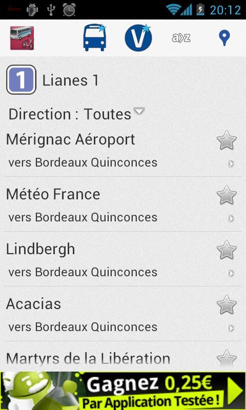 Transports Bordeaux - screenshot