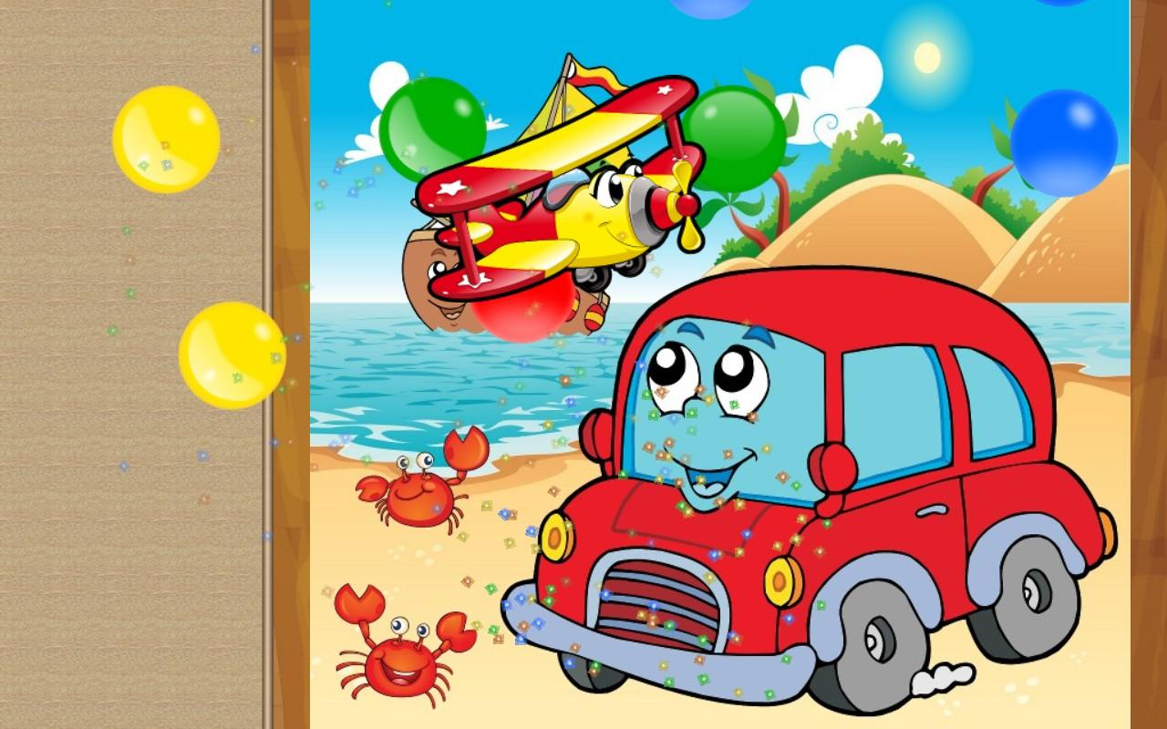 car and truck puzzle for kids screenshot