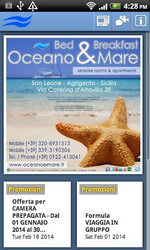 Bed Breakfast Oceano Mare
