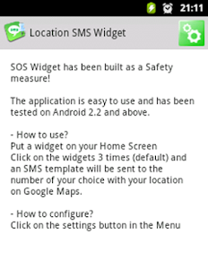 Location SMS Widget- screenshot thumbnail