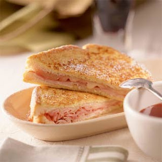 Monte Cristo Sandwich with Sweet Mustard Sauce.