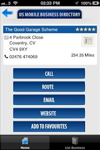 US Mobile Business Directory- screenshot thumbnail