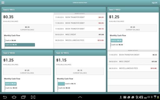 California Bus Bank Tablet