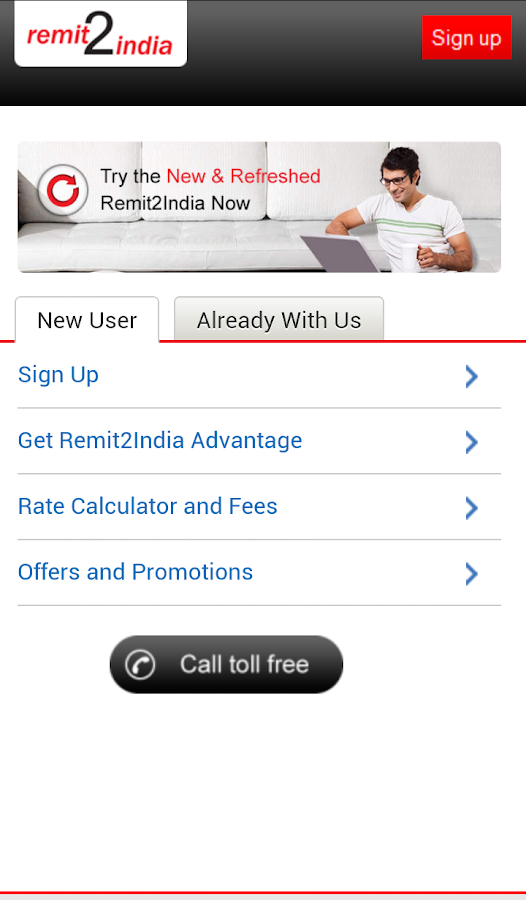 Remit2India - screenshot