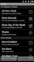 Screenshot of Alarm Clock Live Wallpaper