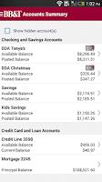 Screenshot of BB&T Mobile Banking