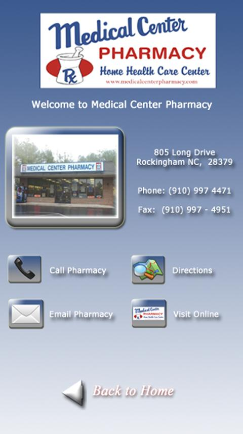 Medical Center Pharmacy- screenshot