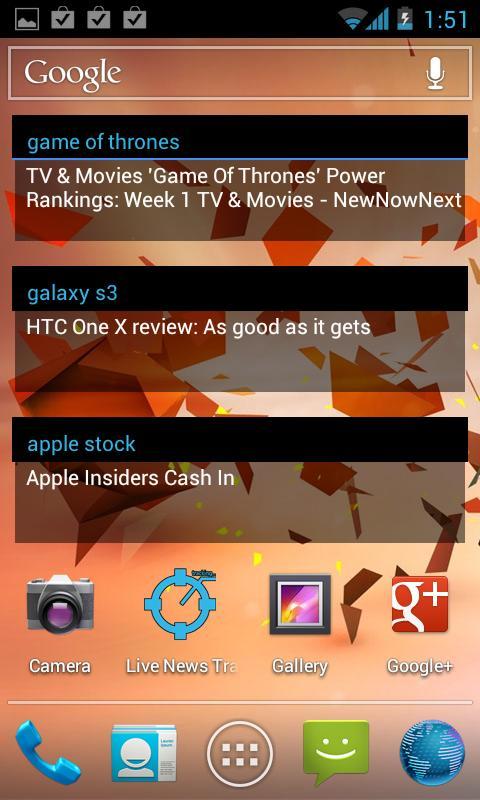 Live News Tracker Pro (RSS)- screenshot