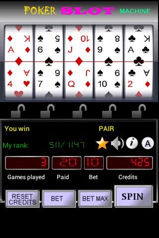 Poker Slot Machine - screenshot