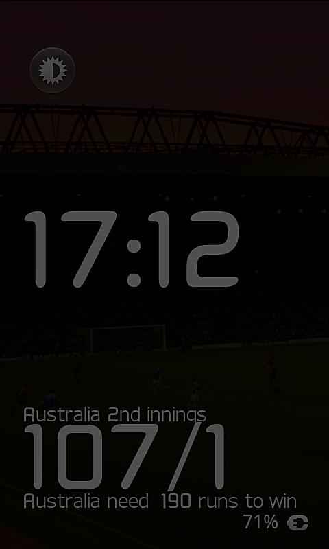 Ashes Test Cricket DeskClock- screenshot