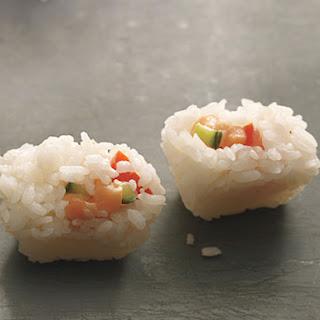 Ice-Tray Sushi Blocks