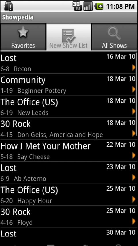 Showpedia - TV Show Guide - screenshot