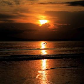 Sunset by Praveen Kumar - Landscapes Beaches