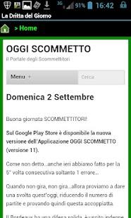 Oggi Scommetto- screenshot thumbnail