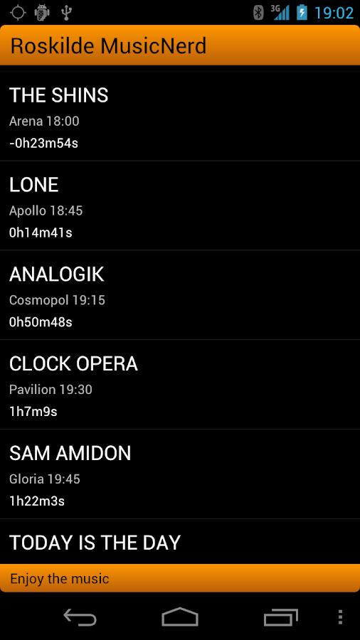 Roskilde MusicNerd- screenshot