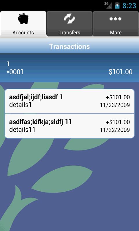 Del One FCU - screenshot