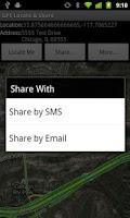 Screenshot of GPS Locate & Share Free