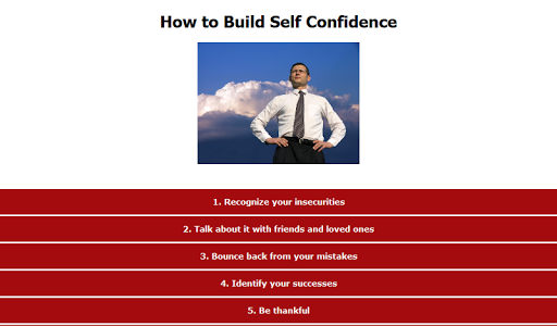 【免費生活App】How to Build Self Confidence-APP點子