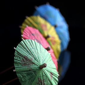 Little Umbrella  by Monica Anantyowati - Artistic Objects Still Life ( macro, red, nature, blue, green, still life, umbrella, device, yellow, object )