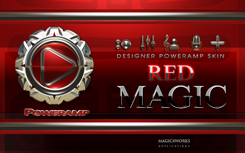 poweramp skin red magic
