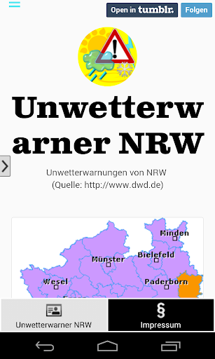 Unwetterwarner NRW