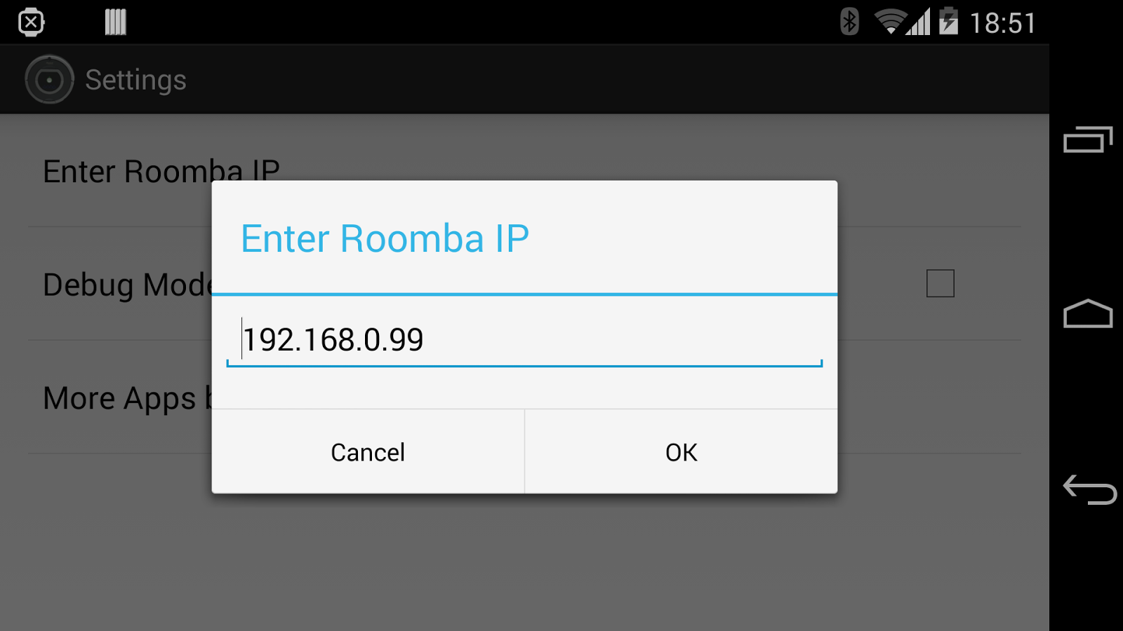 Roomba Wifi- screenshot