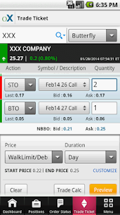 optionsXpress - screenshot thumbnail