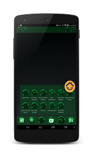 Chromed Emerald Launcher Theme - screenshot thumbnail